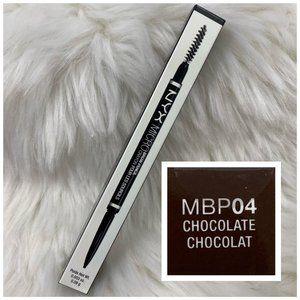 4/$20 NYX Micro Brow Pencil & Brush BP04 Chocolate